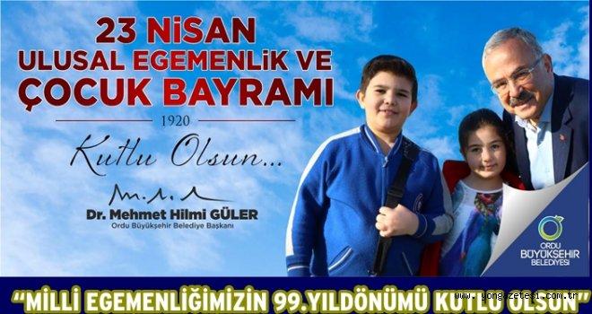 Başkan Güler, 23 Nisan mesajı yayınladı..