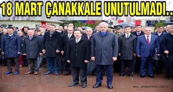 18 Mart Çanakkale şehitleri törenle anıldı..