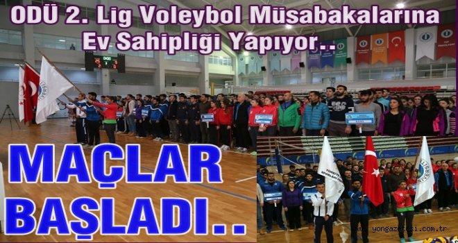 2. Lig Voleybol Grup Müsabakaları Üniversitede başladı.