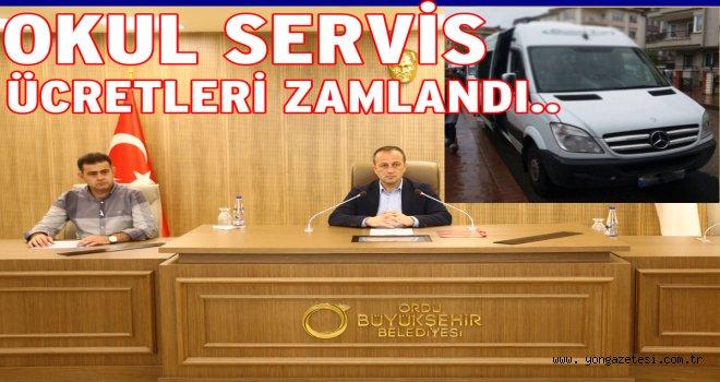 2017-2018 SERVİS ÜCRETLERİ BELLİ OLDU..