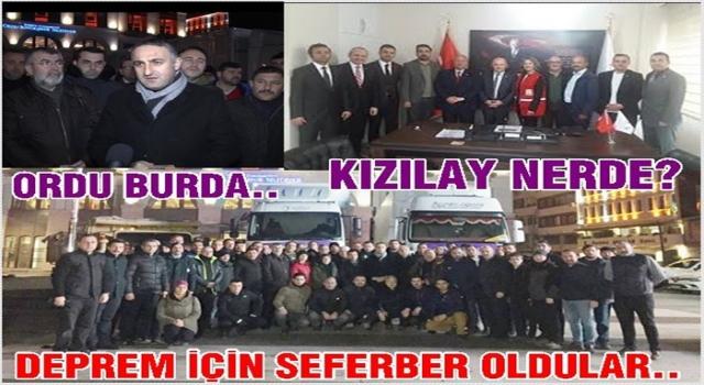 Deprem için Ordu seferber oldu, Kızılay kayboldu..
