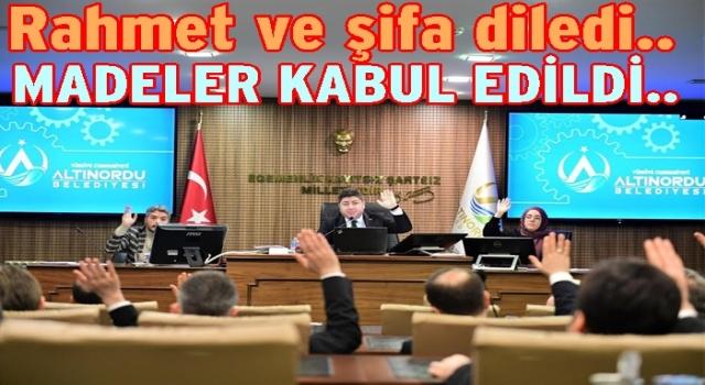 Altınordu Belediyesi Meclis toplantısı yapıldı..