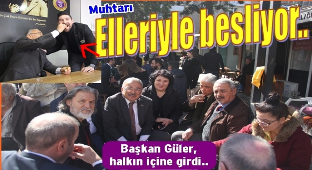 Başkan Hilmi Güler, Tahıl Pazarında halkı ziyaret etti..