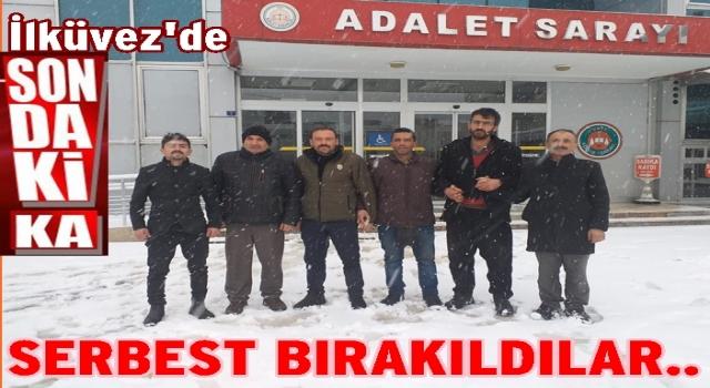 GÖZ ALTINA ALINANLAR SERBEST BIRAKILDI..