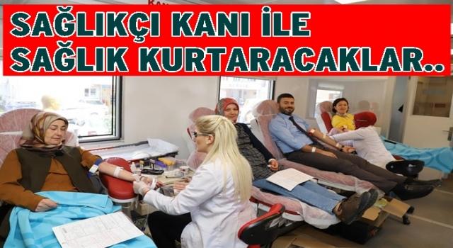 Kızılay Kan için Sağlık çalışanlarına yöneldi..