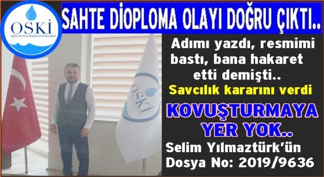OSKİ'deki Diploma sahtekarlık iddiası doğrulandı..