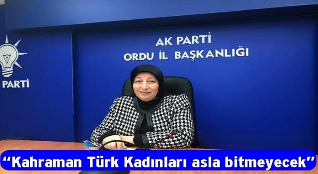 KADIN KOLLARI BAŞKANI, KADINLARA SESLENDİ..