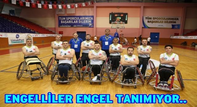 Tekerlekli Sandalye basketbol takımı zorlu maçı kazandı..