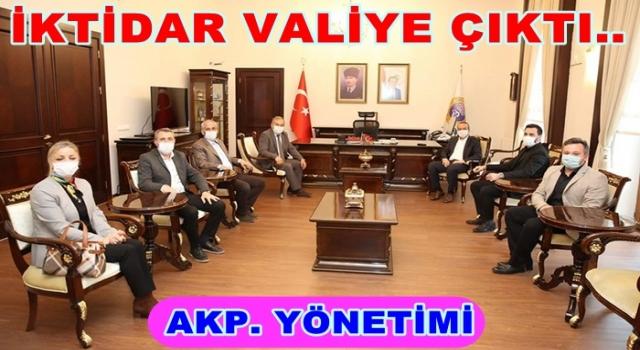 AK Parti il ve ilçe başkanları valilik makamında..