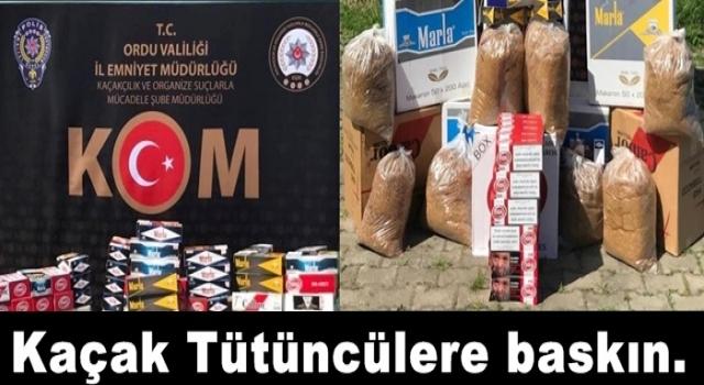 KAÇAK TÜTÜN VE MAKARON ELE GEÇİRLDİ..