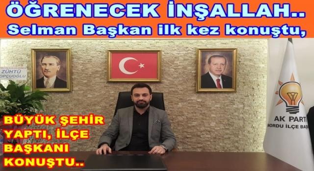 """AKP. İlçe başkanı Altaş, """"Söyleyecek çok sözümüz var"""""""