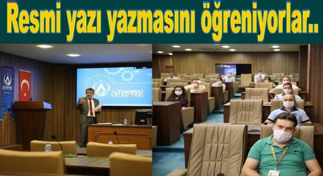 """BELEDİYE ÇALIŞANLARINA """"USUL ve ESAS"""" EĞİTİMİ.."""