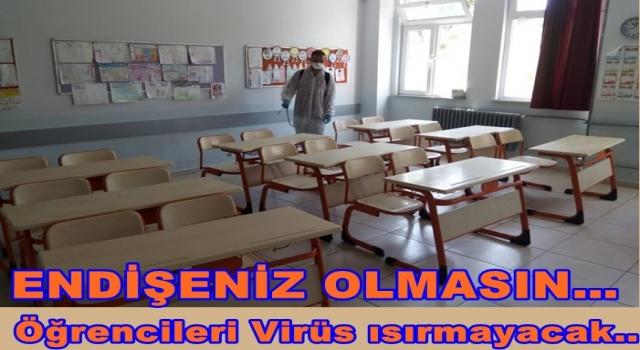 BÜYÜKŞEHİR LGS ÖNCESİ SINIFLARI İLAÇLIYOR..