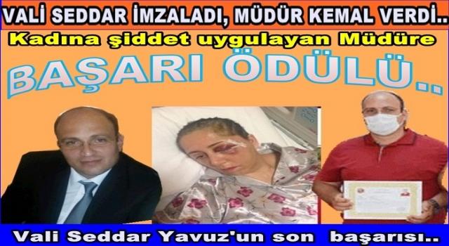 Kadına Şiddet uygulayan müdüre BAŞARI belgesi verdiler..