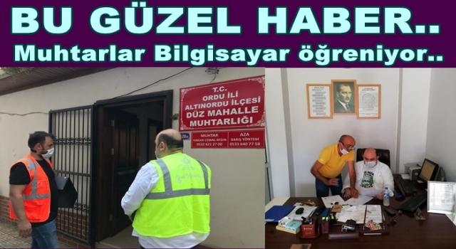 Altınordu Belediyesi Muhtarlara bilgisayar dağıtıyor..