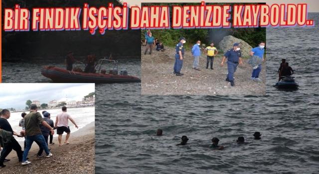 Bir Fındık işçisi daha denizde kayboldu..