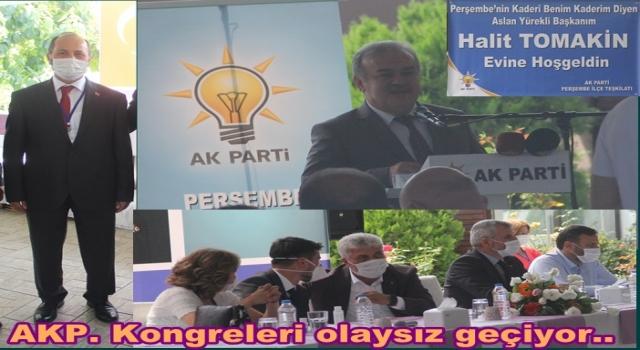 AKP. Perşembe İlçe başkanlığına Mehmet Çalış seçimle geldi..