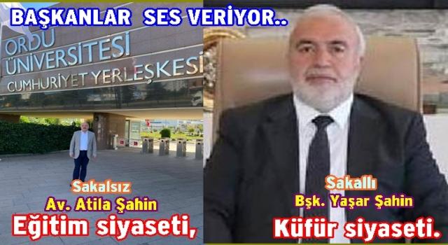 ŞAHİN'LER FARKLI SES VERMEYE BAŞLADILAR..