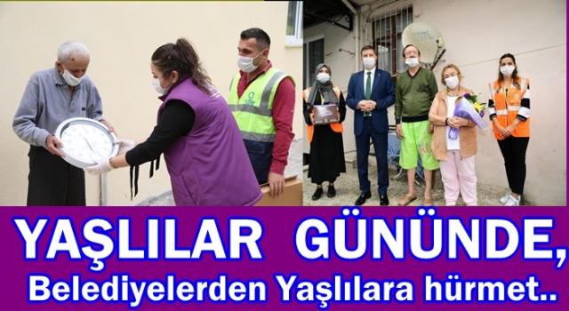YAŞLILARI EVLERİNDE ZİYARET ETTİLER..