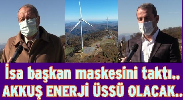 Akkuş'ta rüzgardan enerji fırıldakları dönmeye başladı..