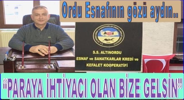 Altınordu'da İkinci bir Esnaf Kefalet kredi kooperatifi açıldı..