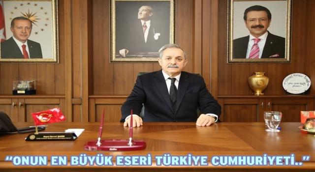 OTSO Başkanı Servet Şahin, 10 Kasımı unutmadı…