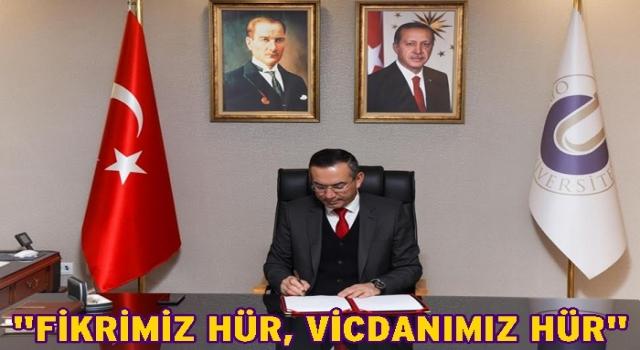 Rektör Akdoğan'dan 10 Kasım anma mesajı..