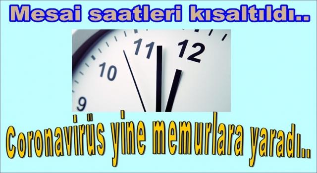Mesai saatleri değişti.. Memurlar 5,5 saat çalışacak..