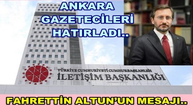 "Fahrettin Altun, ""Gazeteciler ""HAKİKATİN TEMSİLCİSİ""dir."