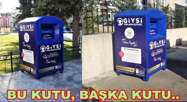 GİYİLMEYEN KIYAFETLER ÇÖPE DEĞİL GİYSİ KUTUSUNA..