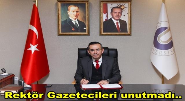 Rektör Prof. Dr. Ali Akdoğan, Gazeteciler gününü kutladı..