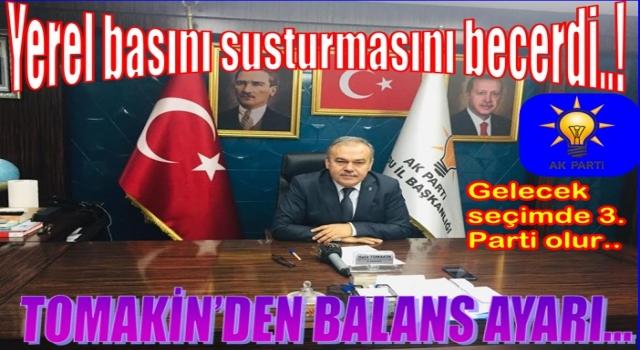 AKP İl başkanı Halit Tomakin gündemi 28 Şubat'la kapatmaya çalıştı..
