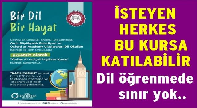 BÜYÜKŞEHİR'DEN OXFORD İNGİLİZCE KURSU..