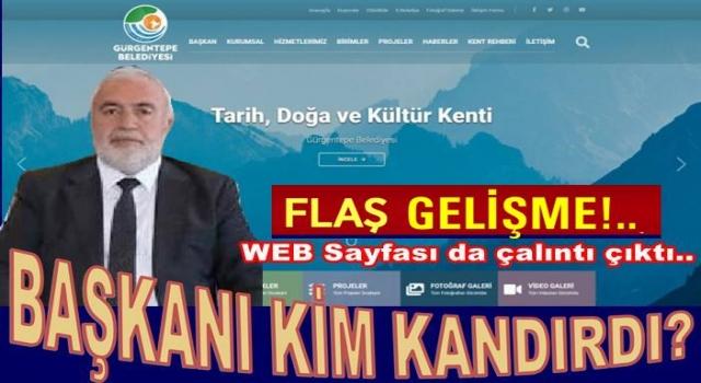 Gürgentepe Belediyesinin web sayfasının çalıntı olduğu ortaya çıktı..