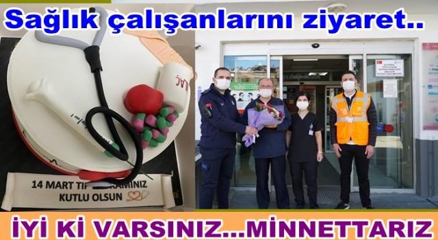 Altınordu Belediyesi Sağlık çalışanlarını ziyaret etti..