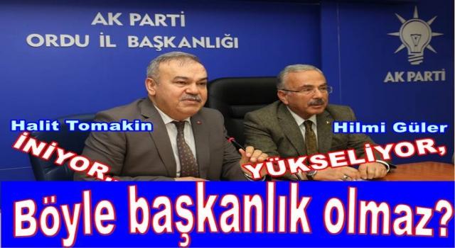 HALİT TOMAKİN, PARTİSİNE ZARAR VERMEYE BAŞLADI..
