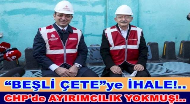 İMAMOĞLU İHALEYİ AKP'Lİ MÜTEAAHHİTLERE VERDİ..