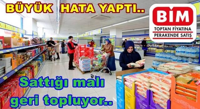 BİM SATTIĞI FIRINI GERİ TOPLUYOR..