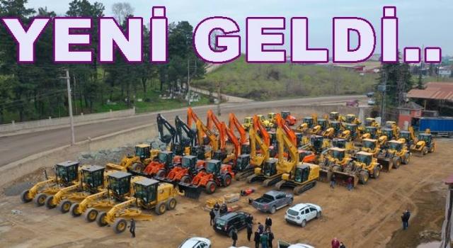 BÜYÜKŞEHİR 62 İŞ MAKİNESİ ile 58 KAMYON ALDI..