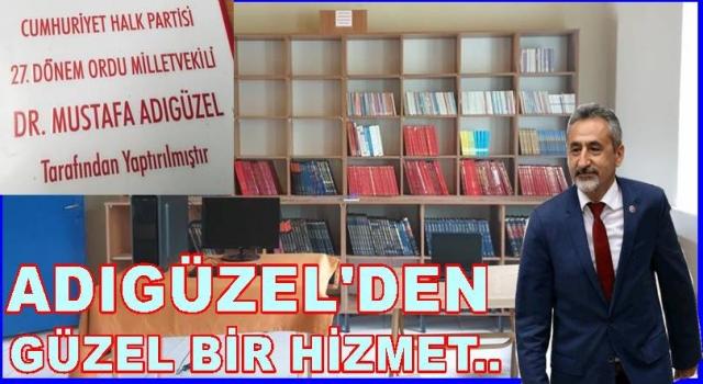 CHP MİLLETVEKİLİ ADIGÜZEL, KÖYE KÜTÜPHANE YAPTIRDI..