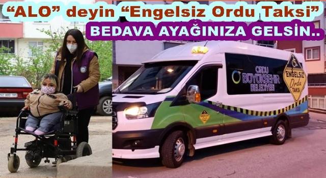 """ENGELLİ ve YAŞLI BİREYLER İÇİN """"ENGELSİZ TAKSİ"""""""