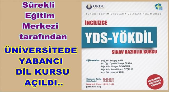 Ordu Üniversitesinde YDS ve YÖKDİL Kursu açıldı..
