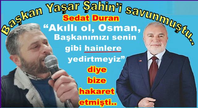 Sanatçı(!) Sedat Duran hakkında hakaret suçundan dava açıldı..