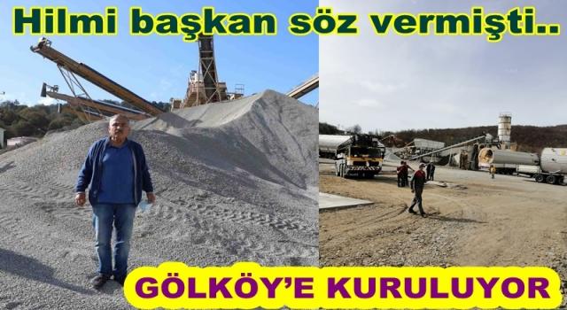 ASFALT PLENT TESİSİNİN KURULUMUNA BAŞLANDI..