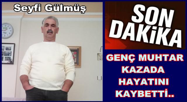 Perşembe Boğazcık Muhtarı ve Murat Baş, trafik kazası geçirdi..