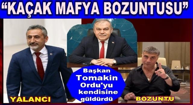 AKP İl başkan Tomakin, Halkı kendine güldürmeye devam ediyor..