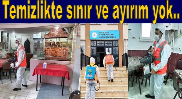 ALTINORDU BELEDİYESİ OKULLARIN DEZENFEKTESİNİ YAPTI..
