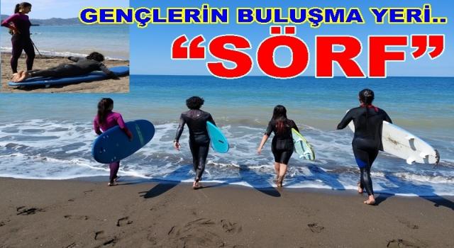 EFİRLİ'DE DALGA SÖRFÜ EĞİTİMLERİ BAŞLADI..