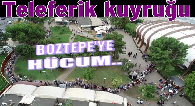 Bayramda 33 bin kişi Boztepe'ye çıktı..