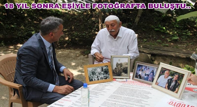 Seyfettin Bilkay Yaşlı amcayı fotoğrafla sevindirdi..